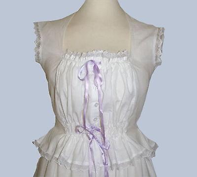 Donna Vittoriano//Edwardiano Canottiera Corsetto Copri Costume
