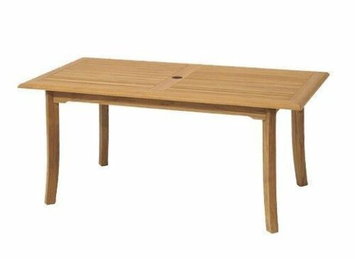 """Mont 9-pc Outdoor Teak Dining Patio: 83"""" Rectangle Table, 8 Stacking Arm Chairs"""
