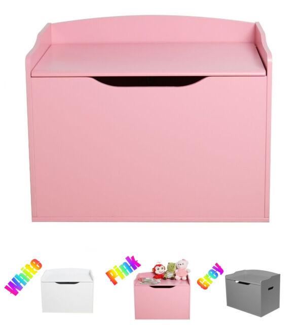 Pink Country Club Jumbo Childrens Girls Unicorn Large Storage Chest Nursery Toy Box