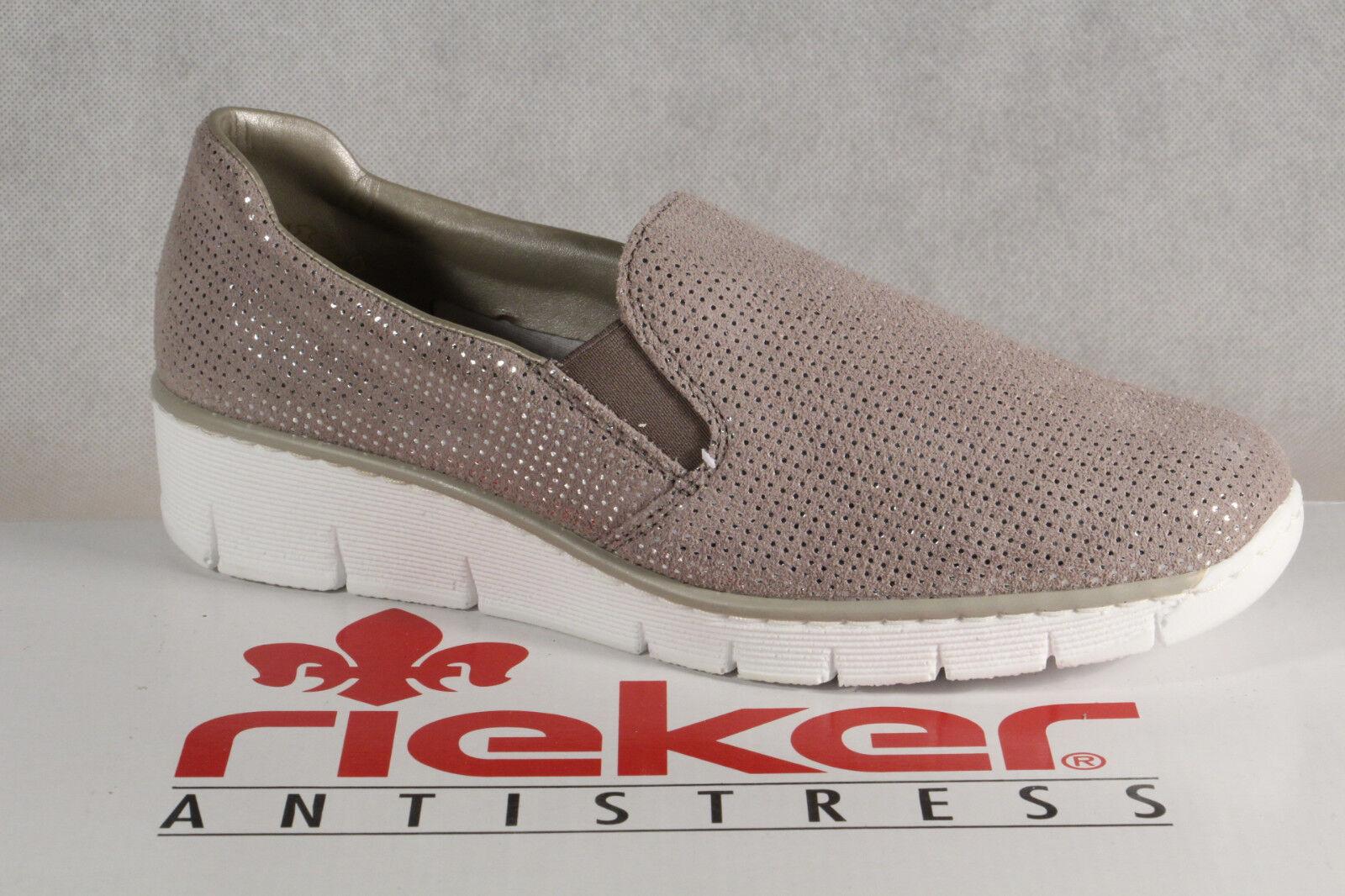 RIEKER Slipper ballerine Sneakers Scarpe Basse Scarpe Sportive ballerine Slipper grigio 53766 NUOVO afad47