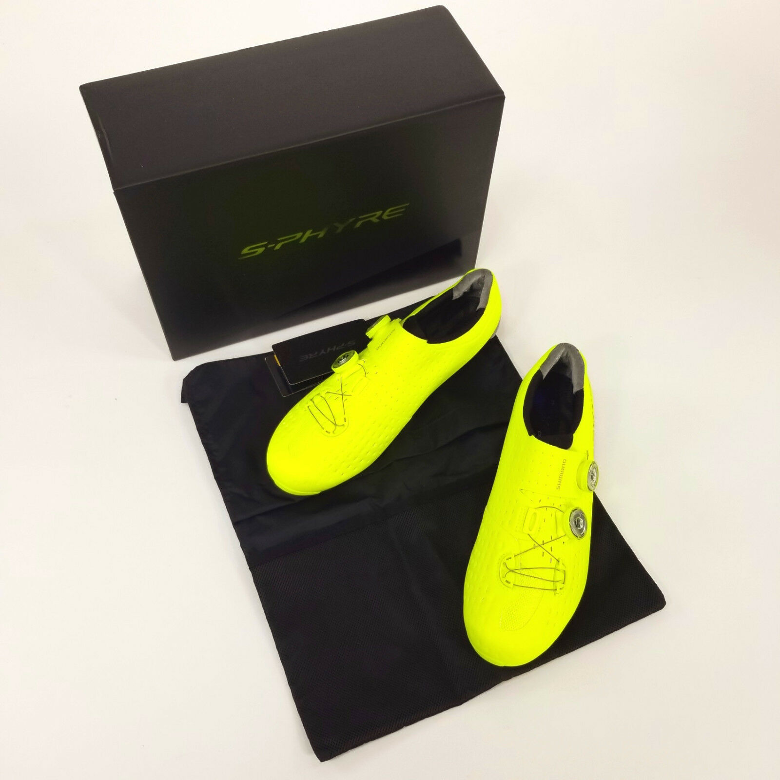 Shimano RC9Y S-Phyre Road Bike shoes, Yellow, US 10.5