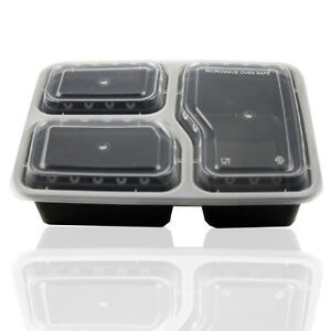 JJPRIME 10x Microwave Safe Stackable Reusable Plastic Container Food