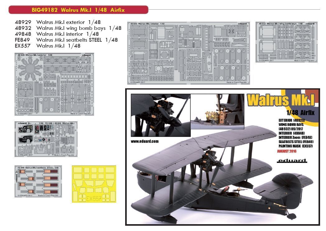 Eduard 1/48 Supermarine Tricheco Modello i Big-Ed Set  49182