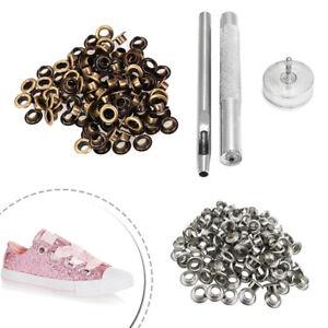 Passacavo-Installare-Mano-Strumento-Kit-Con-5mm-Bronzo-Argento-Occhielli-Per-Bag