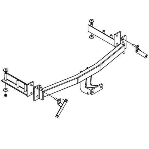 Witter Towbar for Audi A4 Saloon Flange Tow Bar Sal 1995-2001