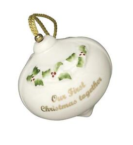 Belleek Our First Christmas Bauble Ornament  eBay