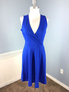 0a2a14450ad New Banana Republic Xs 2 Royal Blue Wrap Dress Career Cocktail Fit ...