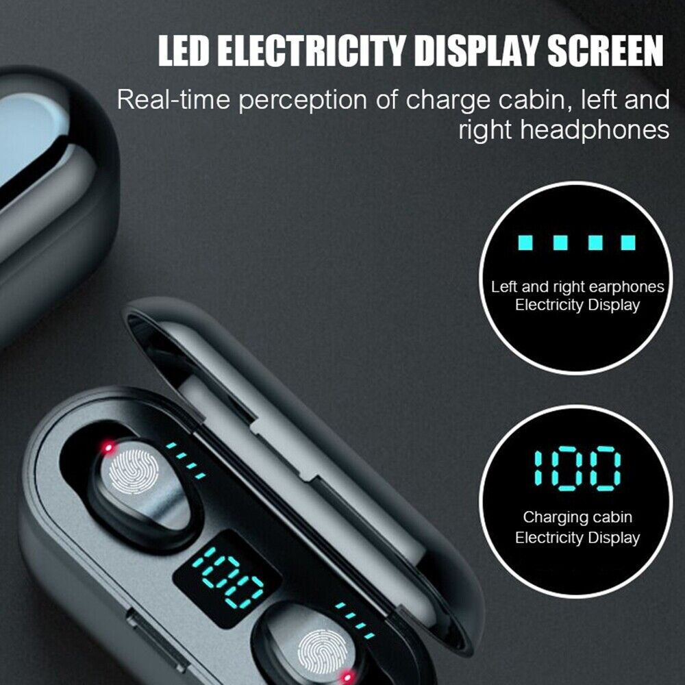 Bluetooth 5.0 Headset TWS Wireless Earphones Mini Earbuds IPX6 Stereo Headphones 9