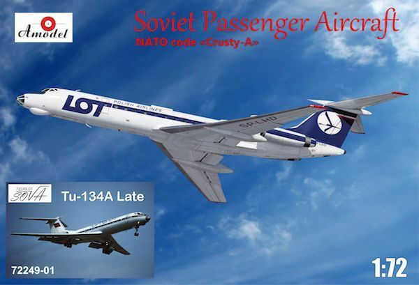 Amodel 1 72 Tupolev Tu-134A LOT and Aeroflot