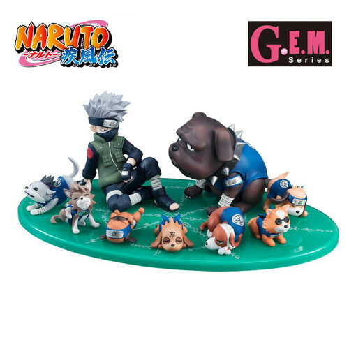 Naruto Shippuden - Kakashi & Ninken Ninja Dog Set PVC Figuras G. E. M. Megahouse