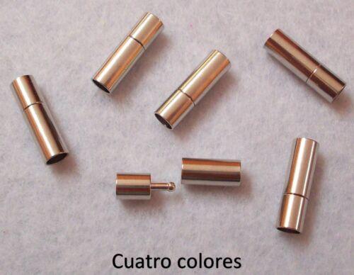 CILINDRO,PULSERAS,COLLARRES CUERO 20x8mm AGUJERO 5mm. 25 CIERRES PRESIÓN ZAMAK