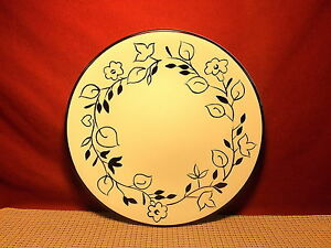 Image is loading Home-Trends-Dinnerware-Ebony-Floral-Pattern-Dinner-Plate & Home Trends Dinnerware Ebony Floral Pattern Dinner Plate | eBay