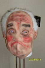 OLD MAN PAPPY GRANDPA LATEX WRINKLED LATEX MASK  WITH HAIR COSTUME MR131133