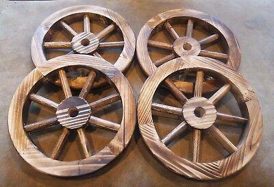 4pack Decorative 12 Wood Wagon Wheels Rustic Western Wooden Wedding Centerpiece Ebay