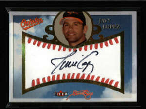 JAVY-LOPEZ-2004-FLEER-SWEET-SIGS-LEATHER-BALL-AUTOGRAPH-AUTO-AX9647