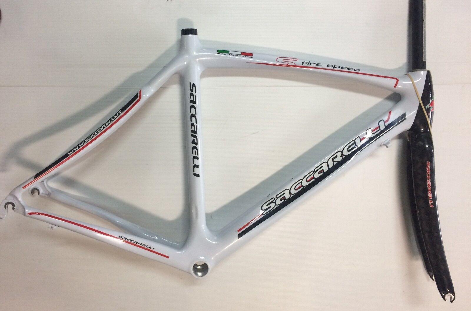 Telaio bici corsa carbonio Saccarelli Fire Speed 52,5 Koldioxidcykelram