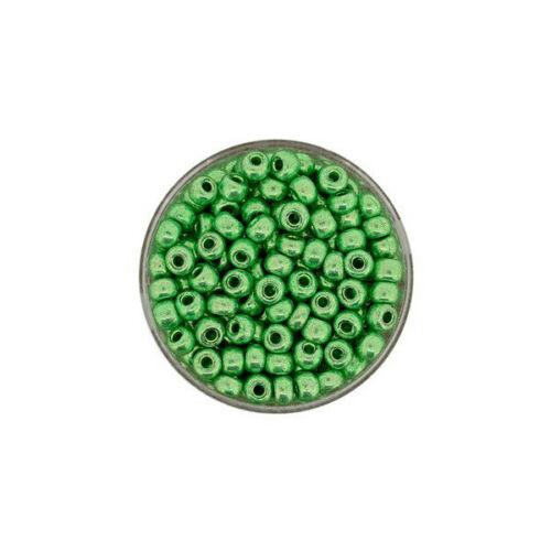 eine Dose Rocailles Glasperlen Glas Perlen metallic 4,5mm
