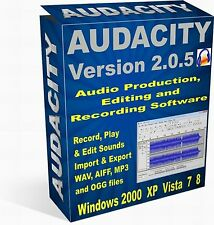 Audacity 2 Professional Audio Production, Editing & Recording Software + More