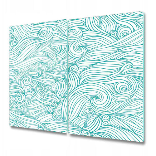 Details about  /Glass Chopping Board Waves irregular shapes vintage hand-drawn Art 2x30x52