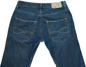 RIVER-ISLAND-Slouch-Boot-Leg-Blue-Denim-Jeans-W32-L33