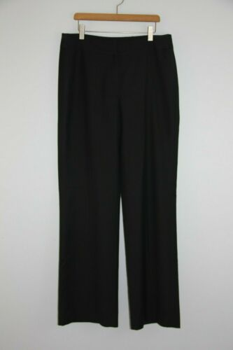 Nine West Suit Womans Size 6 Black Straight Leg Ca