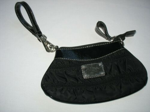 Vintage Guess Wristlet Mini Bag Black with Silver