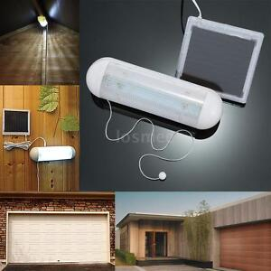 solar light led wall mount with pull cord rope switch garage outdoor