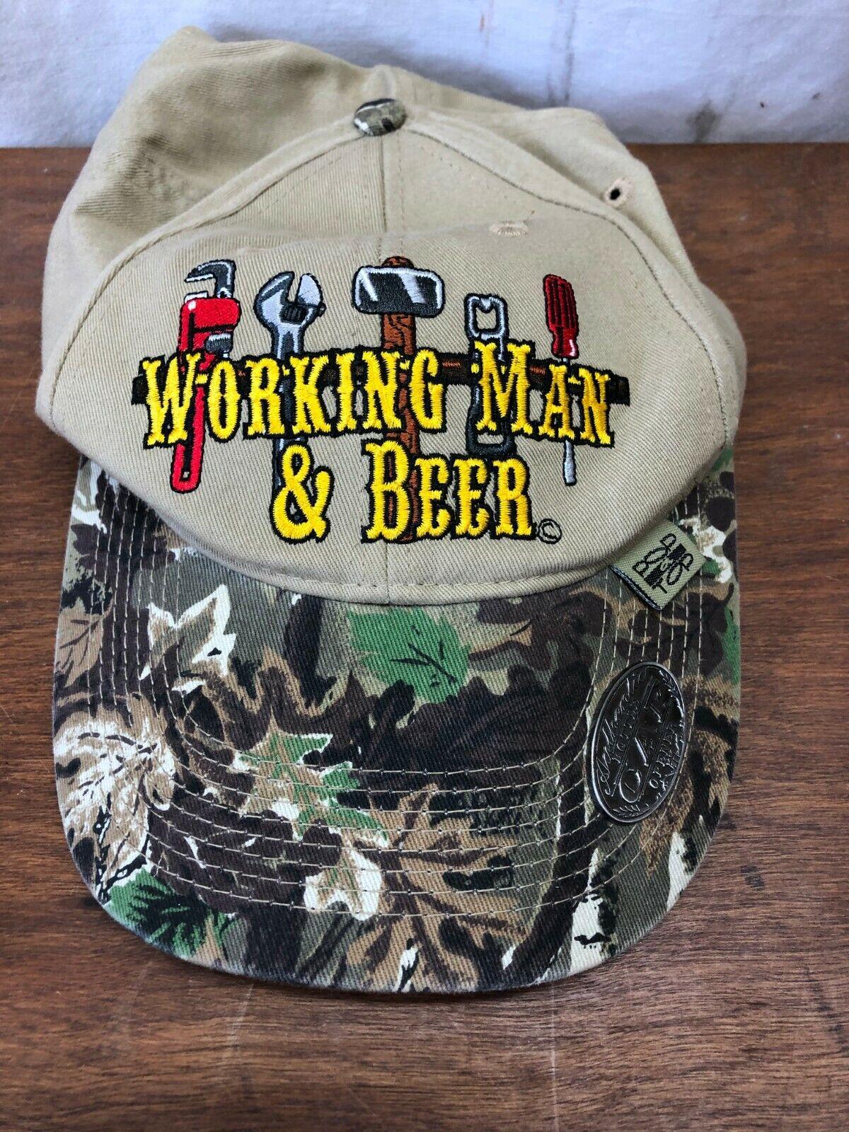 Arbeit Man & Bier Verstellbare Kappe Hut Mit Flaschenöffner Auf Bill Von Der