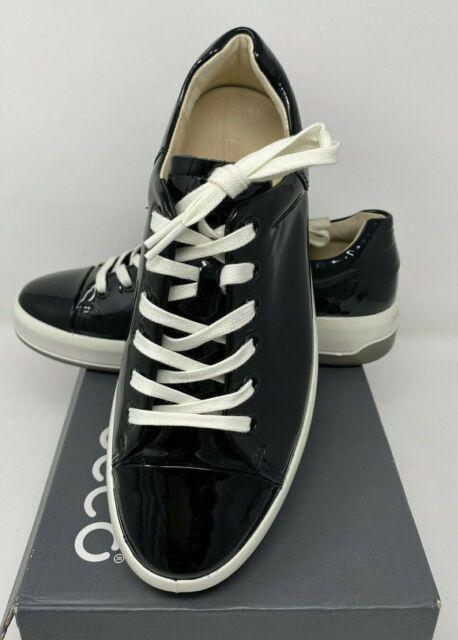 Tie Fashion Sneaker Black Patent 38 EU