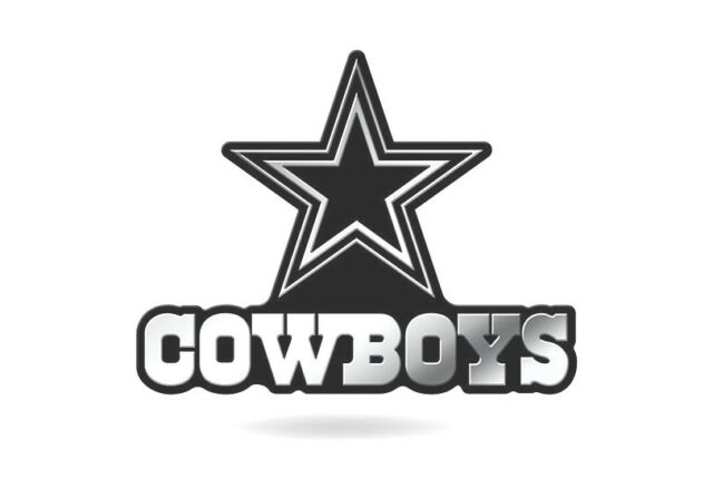 Dallas Cowboys Logo 3d Chrome Auto Decal Sticker Truck Car Rico Ebay