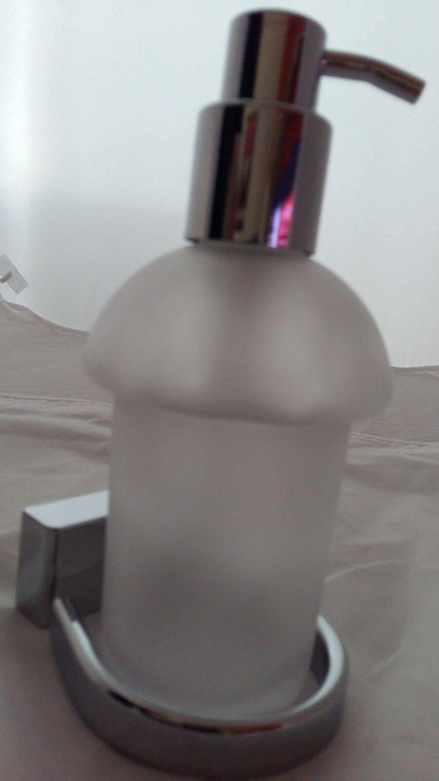 Geesa Bloq Seifenspendermit Pumpe chrom Glas mattiert 00007016