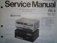 TECHNICS RS-5 RS-M24 Cassette tape Deck Service manual wiring parts diagram