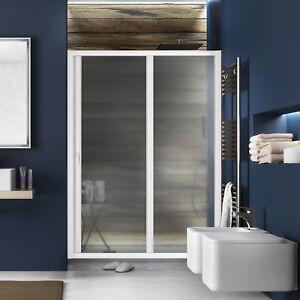 Nuovo box doccia nicchia scorrevole 100x185 cm h bianco for Box doccia bricoman orbassano