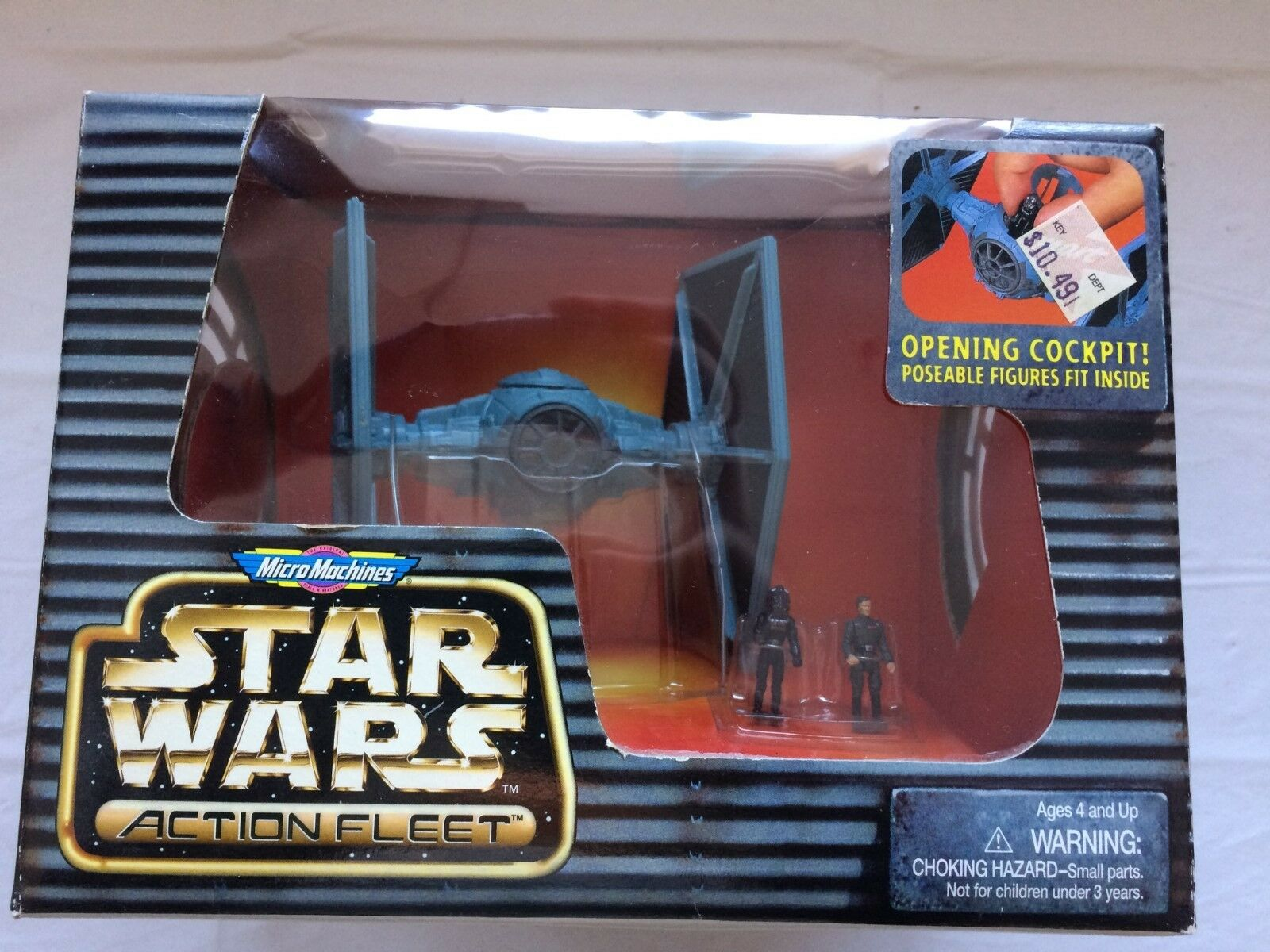 Star wars action fleet Tie Fighter with Imperial Pilot and Grand Moff Tarkin