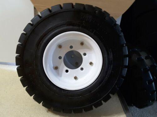 "5.00-8x 17-1//2/"" 3-1//4/"" Center Pair of MITCO Solid Solver Tires w//Rims NEW"