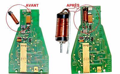 Bobine antenne transpondeur pour t/él/écommande M-ercedes