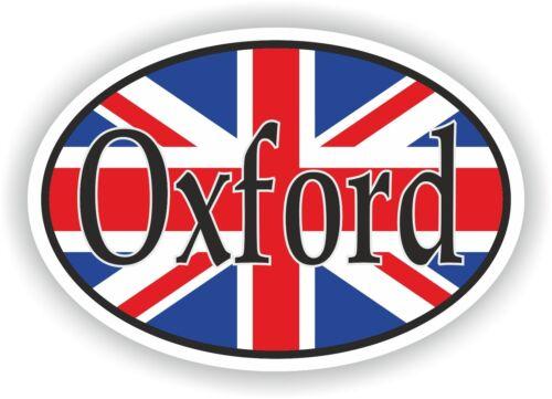 Oval Wagenheber Flagge Oxford City Of UK Auto Aufkleber Motorrad Lkw