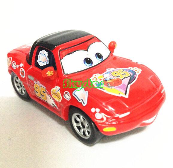 Original Disney Pixar Cars Lightning McQueen Fans Mia Matel Diecast Car