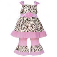 Annloren Boutique Pink Leopard Tunic And Capri Outfit 12-18m, 24m, 2/3t, 4/5t