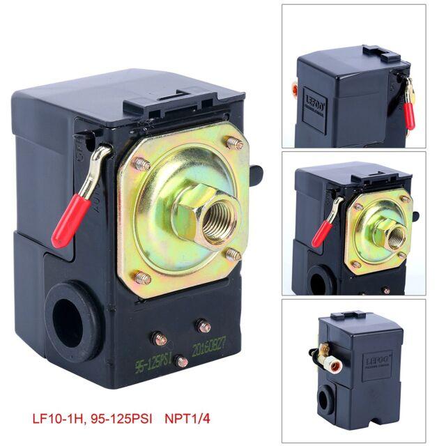 Air Compressor Pressure Switch Lefoo LF10-1H 95-125 PSI 1 port MIN 35 MAX 150