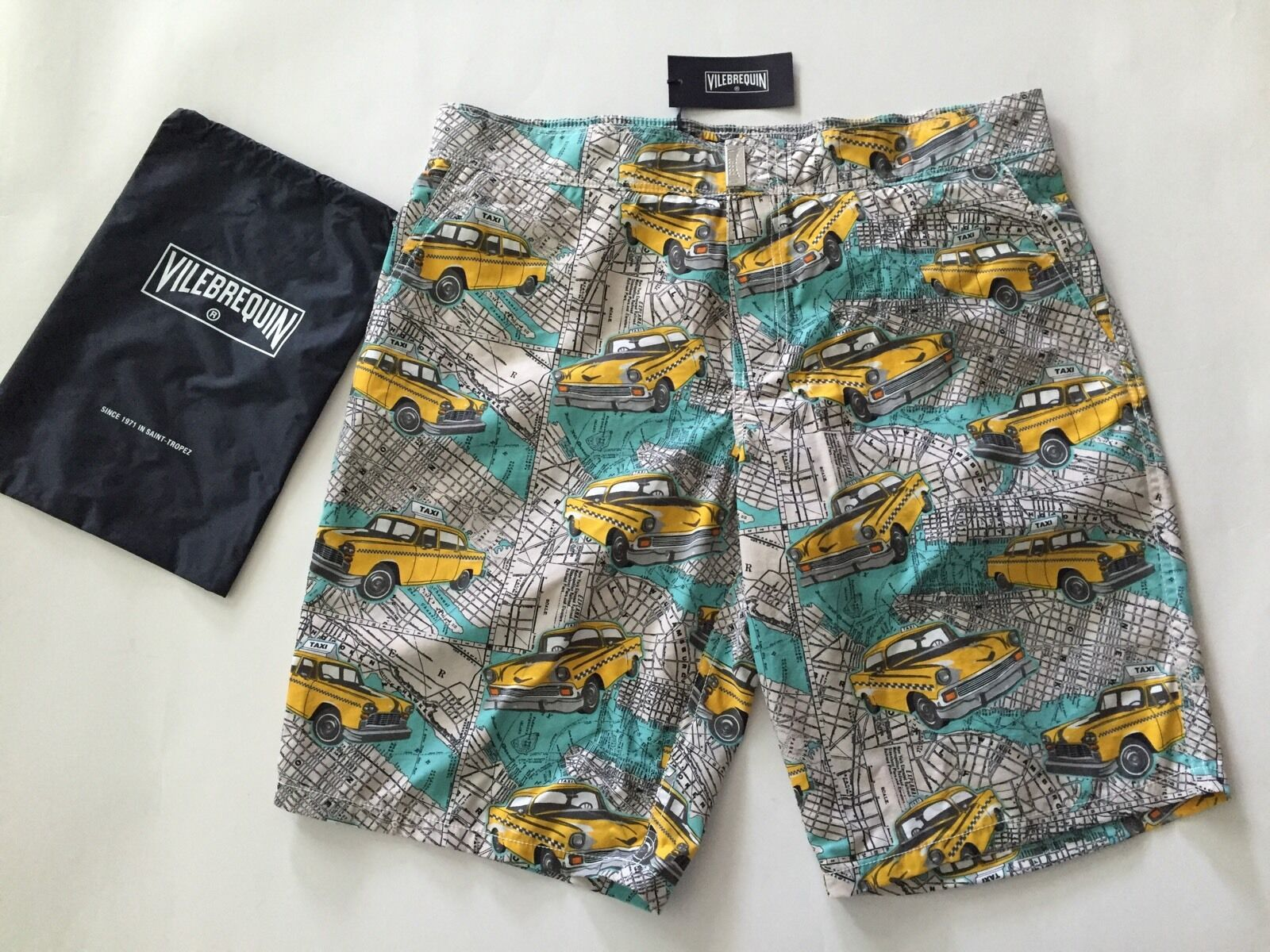 New w Tags & Bag Authentic Vilebrequin Maori Multicolor Swim Trunks Men Size M