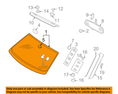 AUDI OEM 07-09 A4 Quattro-Windshield Glass 8H0845099HNVB