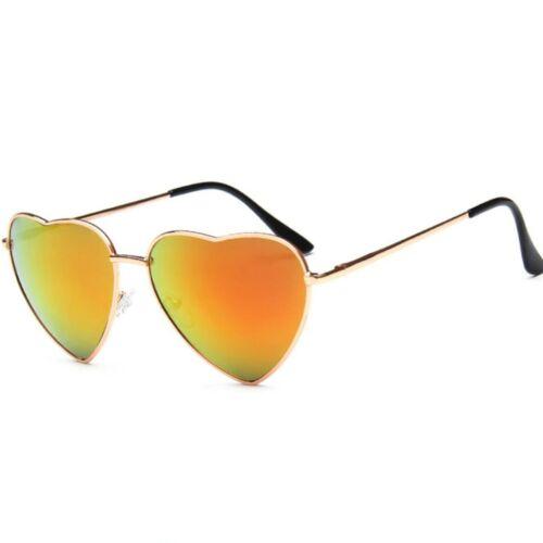 Heart Shape Metal Frame Sunglasses Spring Hinges UV400