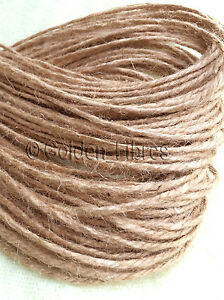 10m Metre Natural Brown Rustic Style Twine String Craft Jute Shabby Cord