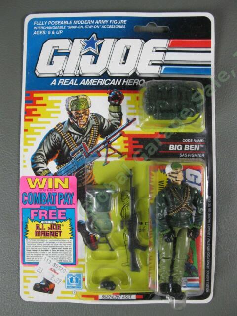 MOC 1991 GI Joe Big Ben v1 British Special Air Service SAS Fighter SEALED NIP NR