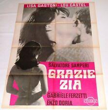 MANIFESTO ORIGINALE DEL  FILM GRAZIE ZIA 1968