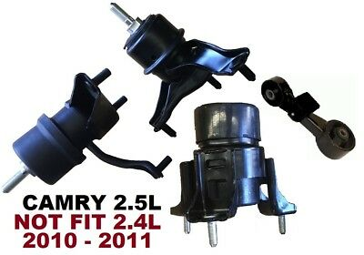 9R3225 4pc Motor Mounts fit 2.5L 4Cyl Engine 2010 2011 Toyota Camry Non-HYBRID