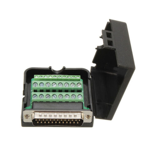 DB25 D-SUB Male 25Pin Breakout Board Terminals Screw Solderless Connector BBC