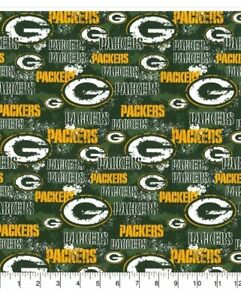 Nfl Green Bay Packers Fabric 100 Cotton Distress 1 4 Yard 9 X 44 Mask Ebay