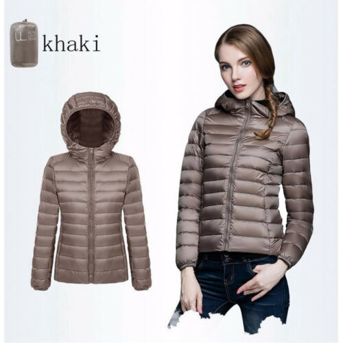 Women/'s Packable Down Jacket Ultra Light Weight Warm Winter Outdoor Coat S-3XL